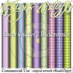 Easter Chickey 2 Backgrounds CU