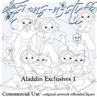 Aladdin Digital Stamps Exclusives 1