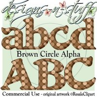 Brown Circle Alpha CU