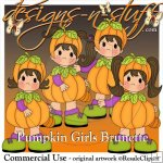 Pumpkin Girls Brunette Resell