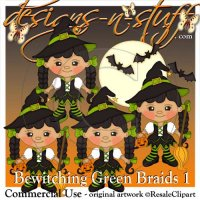 Bewitching Green Braids 1