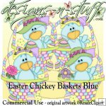 Easter Chickey Baskets Blue CU