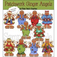 Patchwork Ginger Angels CU