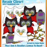 Halloween Owls Clipart Semi-Exclusives 3