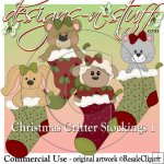 Christmas Critter Stockings 1 CU