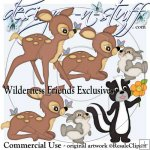 Wilderness Friends Clipart Exclusives