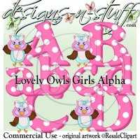 Lovely Owls Girl Alpha CU