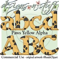 Paws Yellow Alpha CU