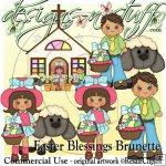 Easter Blessings Brunette CU