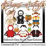 Halloween Dress Me Up Bears Clipart Exclusives
