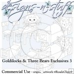 Goldilocks and Three Bears Digital Stamps Exclusives 3