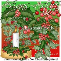 Christmas Holly 2 CU
