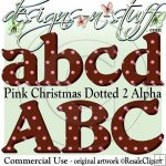 Pink Christmas Dotted 2 Alpha CU