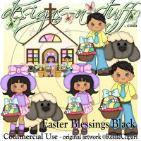 Easter Blessings Black CU