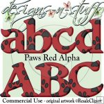 Paws Red Alpha CU