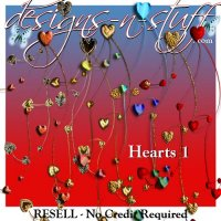 Heart Garlands 1 - Resell
