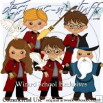 Wizard School Clipart Exclusives 1