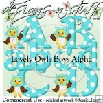 Lovely Owls Boy Alpha CU