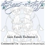 Lion Family Digital Stamps Exclusives 2