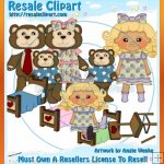 Goldilocks & Three Bears Clipart Exclusives 2