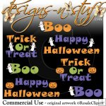 Halloween Word Art 2010 Resell