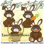 Easter Bunny Brown CU