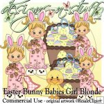 Easter Bunny Babies Girl Blonde CU