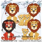 Lion Family Clipart Exclusives 3