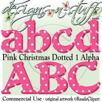 Pink Christmas Dotted 1 Alpha CU