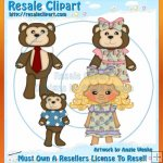 Goldilocks & Three Bears Clipart Exclusives 1