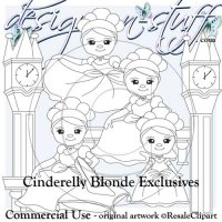 Cinderelly Digital Stamps Exclusives Blonde