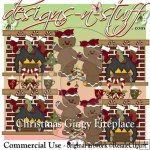 Christmas Gingy Fireplace CU