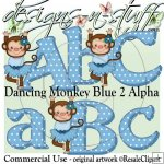 Dancing Monkey Blue 2 Alpha CU