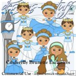 Cinderelly Brunette Clipart Exclusives