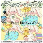 Easter Bunnies White CU
