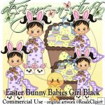 Easter Bunny Babies Girl Black CU