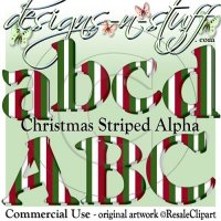 Christmas Striped Alpha CU