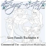 Lion Family Digital Stamps Exclusives 4