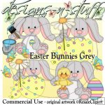 Easter Bunnies Grey CU