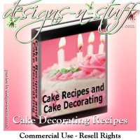 Cake Recipes and Cake Decorating eBooks