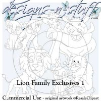Lion Family Digital Stamps Exclusives 1
