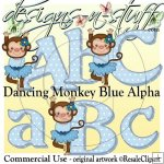 Dancing Monkey Blue 1 Alpha CU