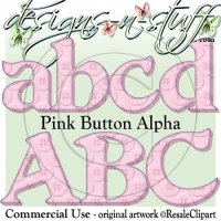 Pink Button Alpha CU