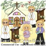 Easter Church Service Blonde 1 CU