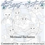 Mermaids Digital Stamps Exclusives 1