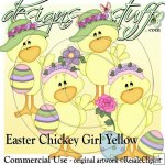 Easter Chickey Girl Yellow CU