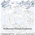 Wilderness Friends Digital Stamps Exclusives