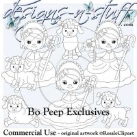 Bo Peep Digital Stamps Exclusives