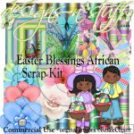 Easter Blessings African Scrap Kit CU