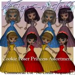 Cookie Poser Princess Set CU